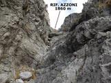 Via Normale Monte Magnodeno - Resegone - In discesa, nel tratto roccioso e incassato del Canale Valnegra