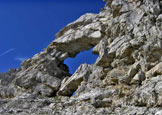 Via Normale Sass de Mura (Via della Croce) - La finestra