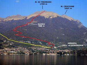 Via Normale Monte di Tremezzo - da sud