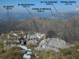 Via Normale Corna Camozzera - Panorama di vetta, verso NW