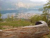 Via Normale Zucco di Manavello (variante) - Panorama su Mandello del Lario e sul lago, dall'itinerario di salita