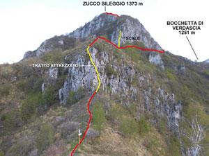 Via Normale Zucco Sileggio - Cresta SE
