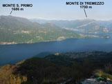 Via Normale Zucco Sileggio - Cresta SE - Panorama di vetta sul Lago di Como