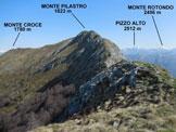 Via Normale Monte Pilastro - Sulla cresta S del Monte Pilastro