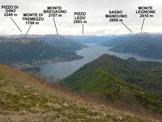 Via Normale Monte San Primo - Vers. N - Panorama di vetta, verso N