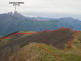 Via Normale Monte San Primo - Vers. N - In discesa, lungo la dorsale E