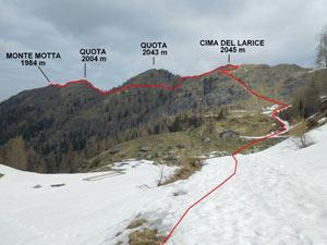 Via Normale Monte Motta - Cima del Larice