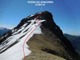 Via Normale Pizzo di Giacomo - L'itinerario, dalla Sella di Giacomo