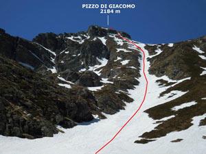 Via Normale Pizzo di Giacomo - Vers. Nord