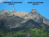 Via Normale Pizzo di Giacomo - Vers. Nord - Immagine ripresa dalla strada che conduce ad Ornica