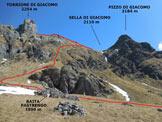 Via Normale Torrione di Giacomo - L'itinerario da S, dalla Baita Pastrengo (q. 1890 m)