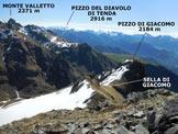 Via Normale Torrione di Giacomo - Panorama di vetta, verso E
