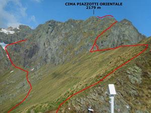 Via Normale Cima Piazzotti Orientale