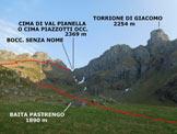 Via Normale Cima di Val Pianella (o Cima Piazzotti Occ.)  - Baita Pastrengo, da qui la Cima di Val Pianella non è ancora visibile