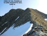 Via Normale Cima di Val Pianella (o Cima Piazzotti Occ.)  - Sulla facile cresta SW della Cima di Val Pianella