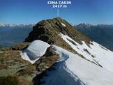 Via Normale Cima Cadin - Sulla facile cresta SE della Cima Cadin