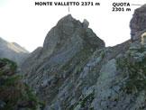 Via Normale Monte Valletto - da Nord e cresta Ovest - Lungo la cresta W