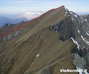 Via Normale Cima Malinverno (cresta S)