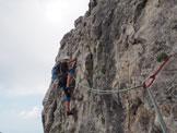 Via Normale Torrione Palma (Via Cassin) - La bella fessura leggermente strapiombante dell´ultima lunghezza