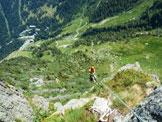 Via Normale Denti della Vecchia (Via Anita 2000) - Discesa in corda doppia dalla cima