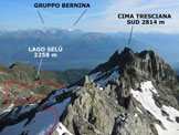 Via Normale Cima del Bondone - Panorama di vetta, verso N