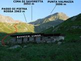 Via Normale Cima di Savoretta - Punta Valmazza - Immagine ripresa dal Bivacco Linge