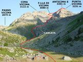 Via Normale Punta Vicima - L'itinerario dall'Alpe Vicima (q. 2133 m)