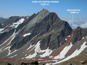 Via Normale Cima di Pietra Rossa (o Punta di Pietra Rossa)