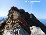 Via Normale Cima di Pietra Rossa (o Punta di Pietra Rossa) - Sulla cresta N