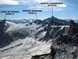Via Normale Cima di Castello - dall'Allievi - Panorama di vetta, verso SE