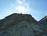 Via Normale Punta da l'Albigna (Via Steiger + Spigolo W) - Sulla placca del tiro chiave (L9)