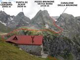 Via Normale Pizzo Brunone - da Agneda - Il Rifugio Mambretti e l'itinerario di salita