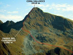 Via Normale Cima Vallocci - Cresta Ovest