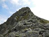 Via Normale Cima Vallocci - Cresta Ovest - All'inizio della cresta W