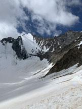 Via Normale Nadelhorn - Sul ghiacciaio sotto alla nord della Lenzspitze
