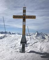 Via Normale Alphubel - La croce di vetta