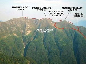 Via Normale Monte Pisello - Monte Lago