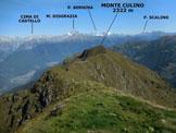 Via Normale Monte Pisello - Monte Lago - Panorama dalla vetta del Monte Lago
