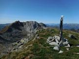 Via Normale Cima Terre Fredde - dalla Valle di Braone - In vetta, a sinistra il Monte Frerone