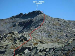 Via Normale Cima Laione - dalla Valle di Braone