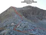 Via Normale Cornone di Blumone - dalla Valle di Braone - L'itinerario dal Passo di Blumone