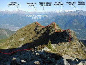 Via Normale Punta Campione