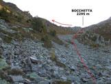 Via Normale Punta Campione - Verso la Bocchetta (q. 2295 m)