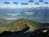 Via Normale Punta della Pessa - Panorama di vetta, verso N
