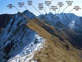Via Normale Cime Giumella - La cresta di collegamento, dalla (q. 2584 m) e il bellissimo panorama