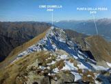 Via Normale Cime Giumella - La cresta di collegamento, dalla (q. 2674 m)