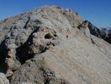 Via Normale Cima Ombretta di Mezzo - Verso la cima