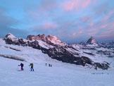 Via Normale Punta Dufour Cresta Ovest - Risalendo all'alba sul Monte Rosa Gletscher