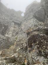 Via Normale Adula o Rheinwaldhorn via Malvaglia - Il diedro di III grado con la catena