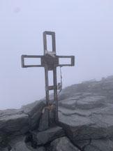 Via Normale Adula o Rheinwaldhorn via Malvaglia - La croce di vetta